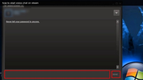 how to change default chat on steam
