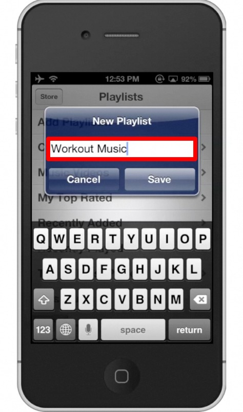 how to create a playlist on iphone