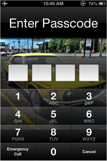 Tap 'Require Passcode' to select moment of entry