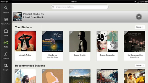 The radio element of Spotify