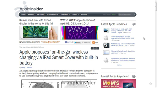 The Apple Insider site which uncovered the patent