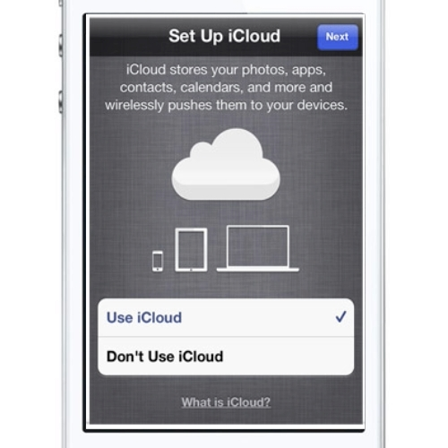 Enter or create a new Apple ID to setup iCloud on a new device