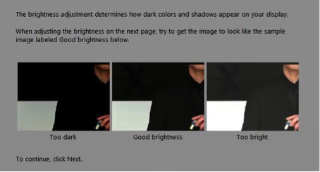 instructions for proper contrast