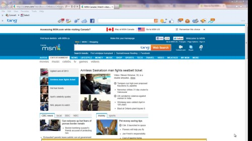 open msn.com on your browser