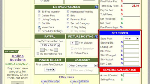 Estimating your prices