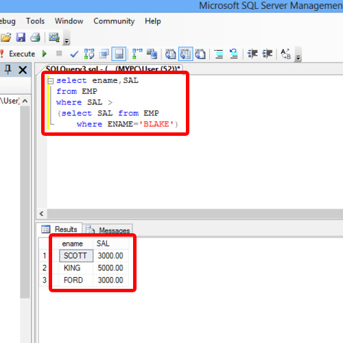 Writing Sub query in SQL