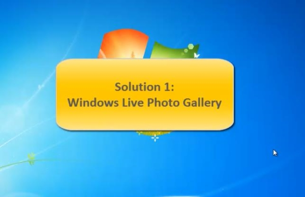 how Windows Live Photo Gallery works