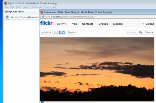 log in to Flickr and select pictures
