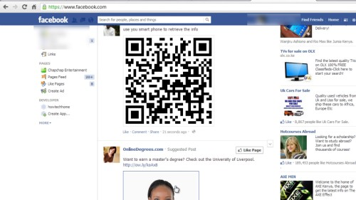 login to your Facebook and upload the code