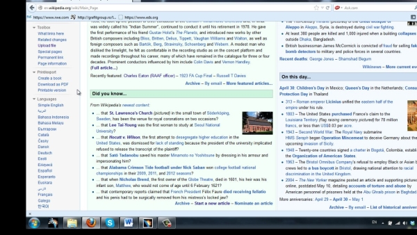 """Click  'Print/export"""" link on the left sidebar of  Wikipedia"""