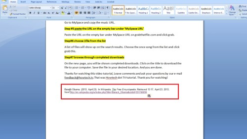 Copy citation and paste it on your article