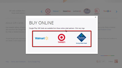 Retailers selling cards online