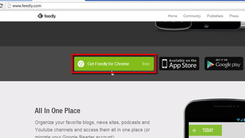 Adding Feedly to Chrome