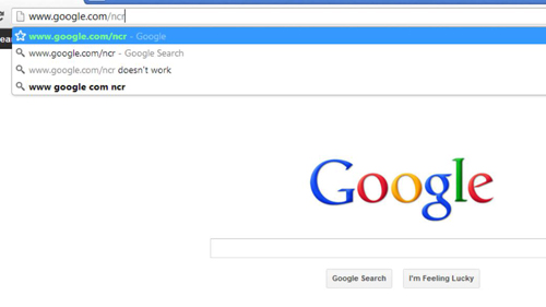 Navigating to the main Google search site