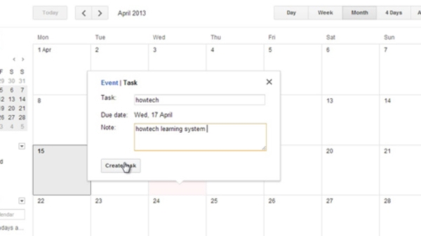 Assign due date to existing task