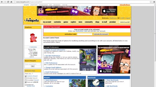 login to neopets