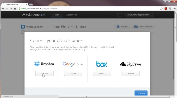 Setting cloud storage