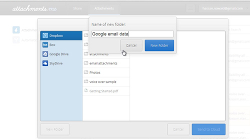 Choose your desire file which you want to save in Dropbox
