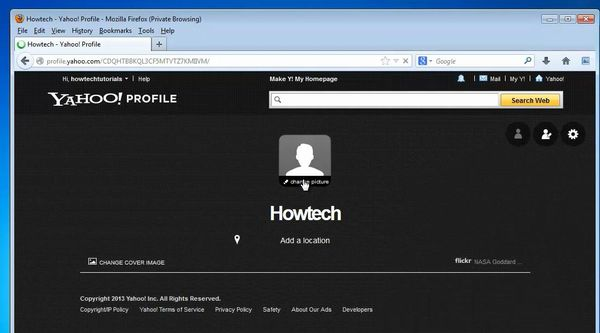 create your profile page