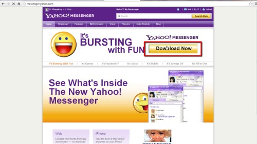 Install yahoo messenger in your computer