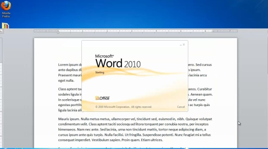 open document with Word