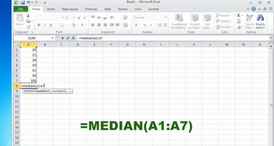 median calculation