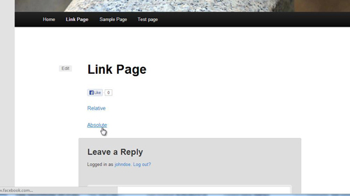 Testing the newly created links