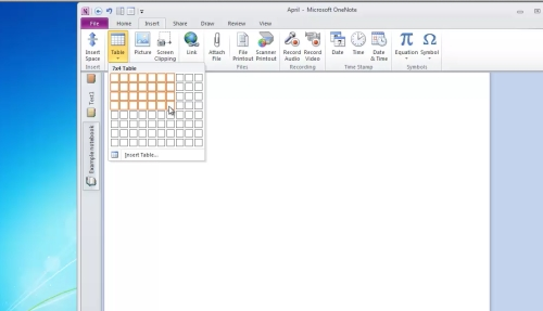 create and customize table