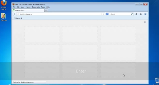 login to Skydrive account