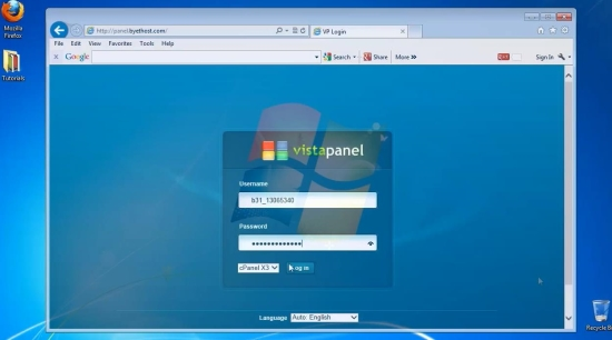 open cPanel