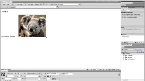 A page in Dreamweaver can be created with a simple click