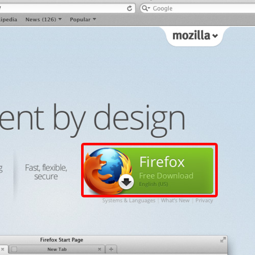 Press the button to download FIrefox