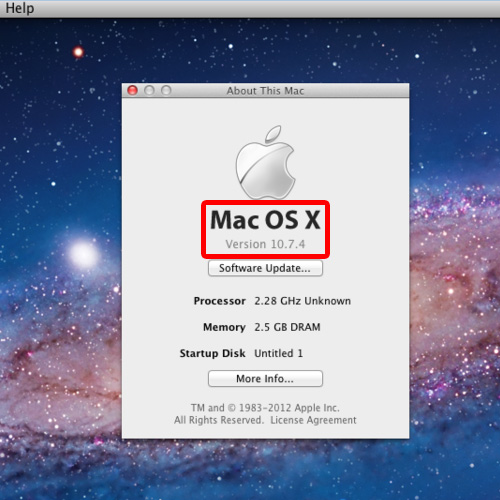 Look at the operating system details