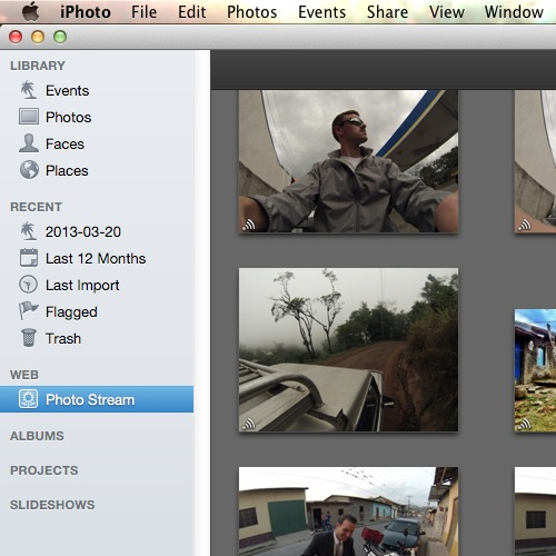 View your Photo Stream in iPhoto
