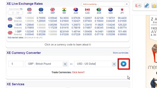 Finding a specific exchange rate