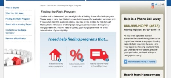 choose the type of help form offered options