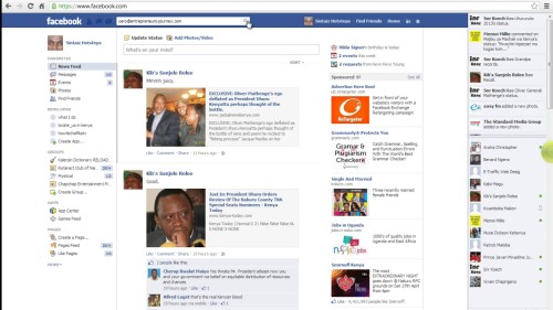 click search on Facebook
