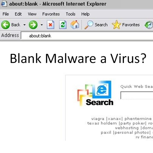 About:blank is not a virus