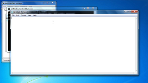 Opening Notepad in command prompt
