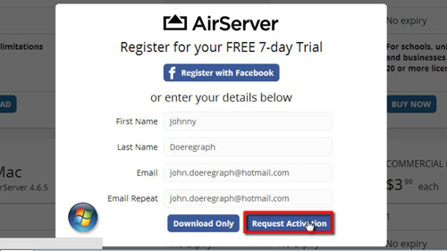 Downloading AirServer