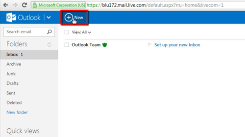 Creating a new email message