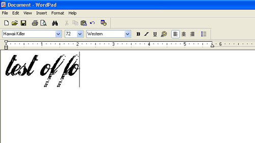 Using the newly installed font