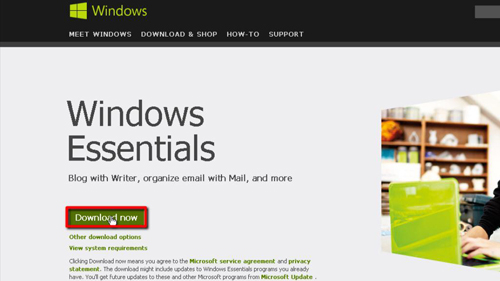Downloading the installer for Windows Live Mail