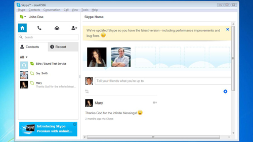 Accessing Skype chat