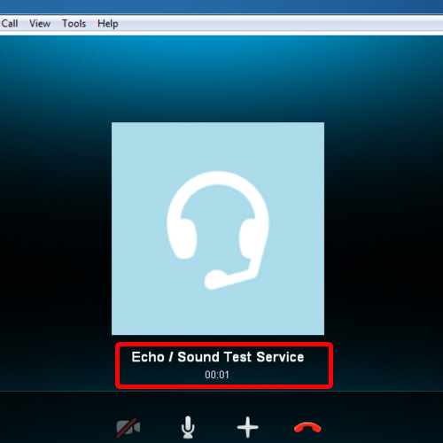 Echo sound test service skype