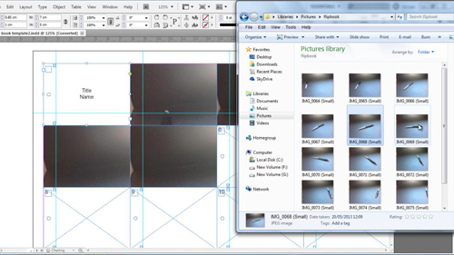 Placing the images into the flipbook template