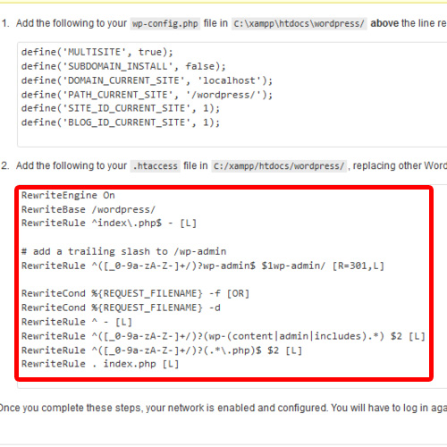 Copy the function to be placed in .htaccess file