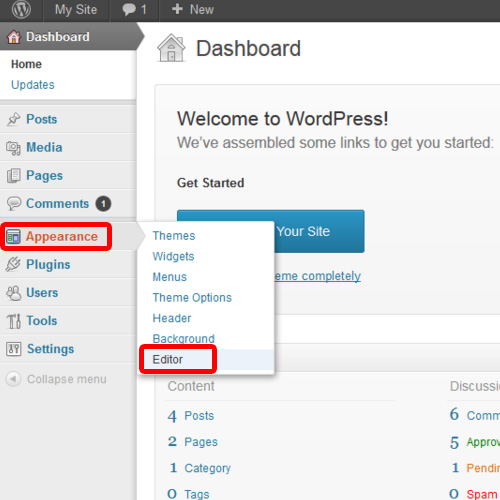 Open WordPress Editor