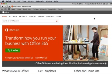 Navigate to www.office.microsoft.com