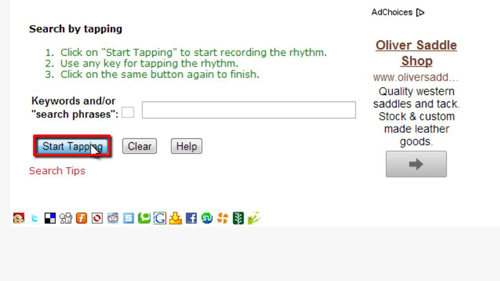 Tapping the keyboard